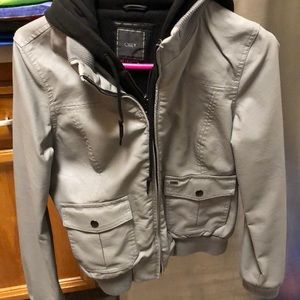 Like new rare obey leather jacket